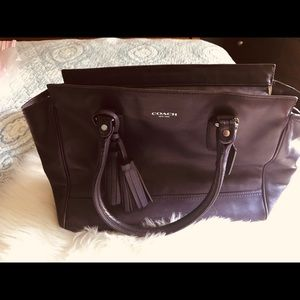 Coach Legacy purple Candace carryall bag